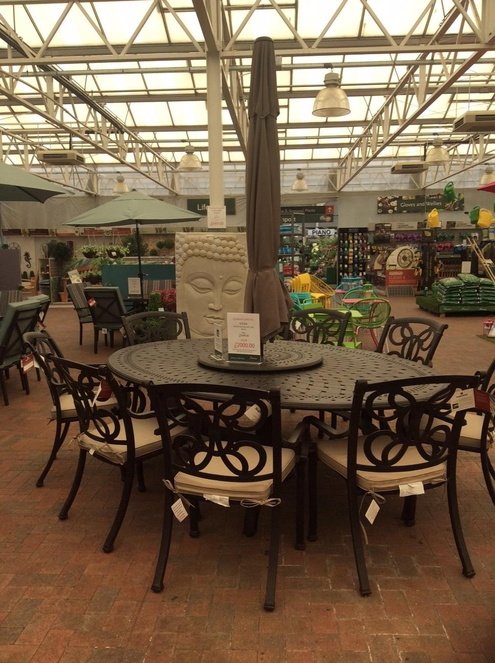 Formal Outdoor table and chairs - BBQ Sale at Burston Garden Centre