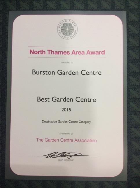 North Thames best garden centre - GCA Award