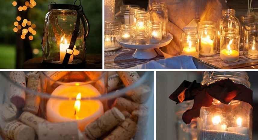 Autumn Candles Collage - Burston Garden Centre