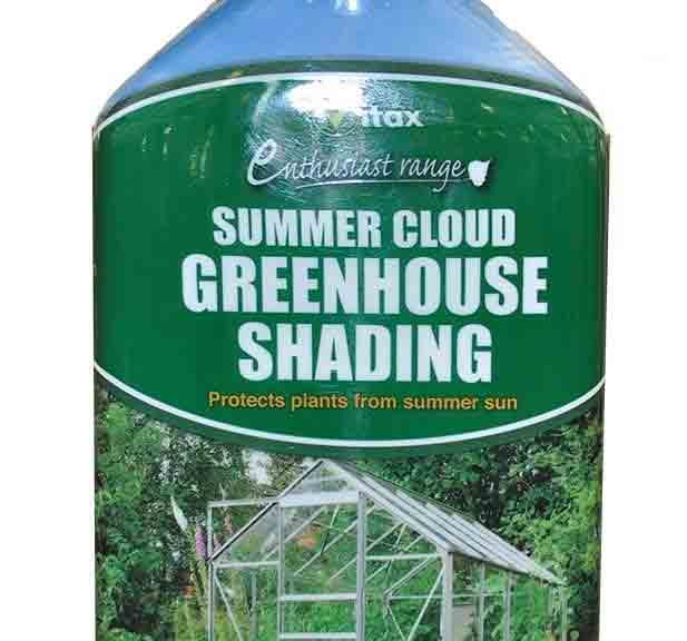 June jobs for the garden - greenhouse shading