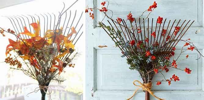 Rake Collage - Autumn Garden Inspiration