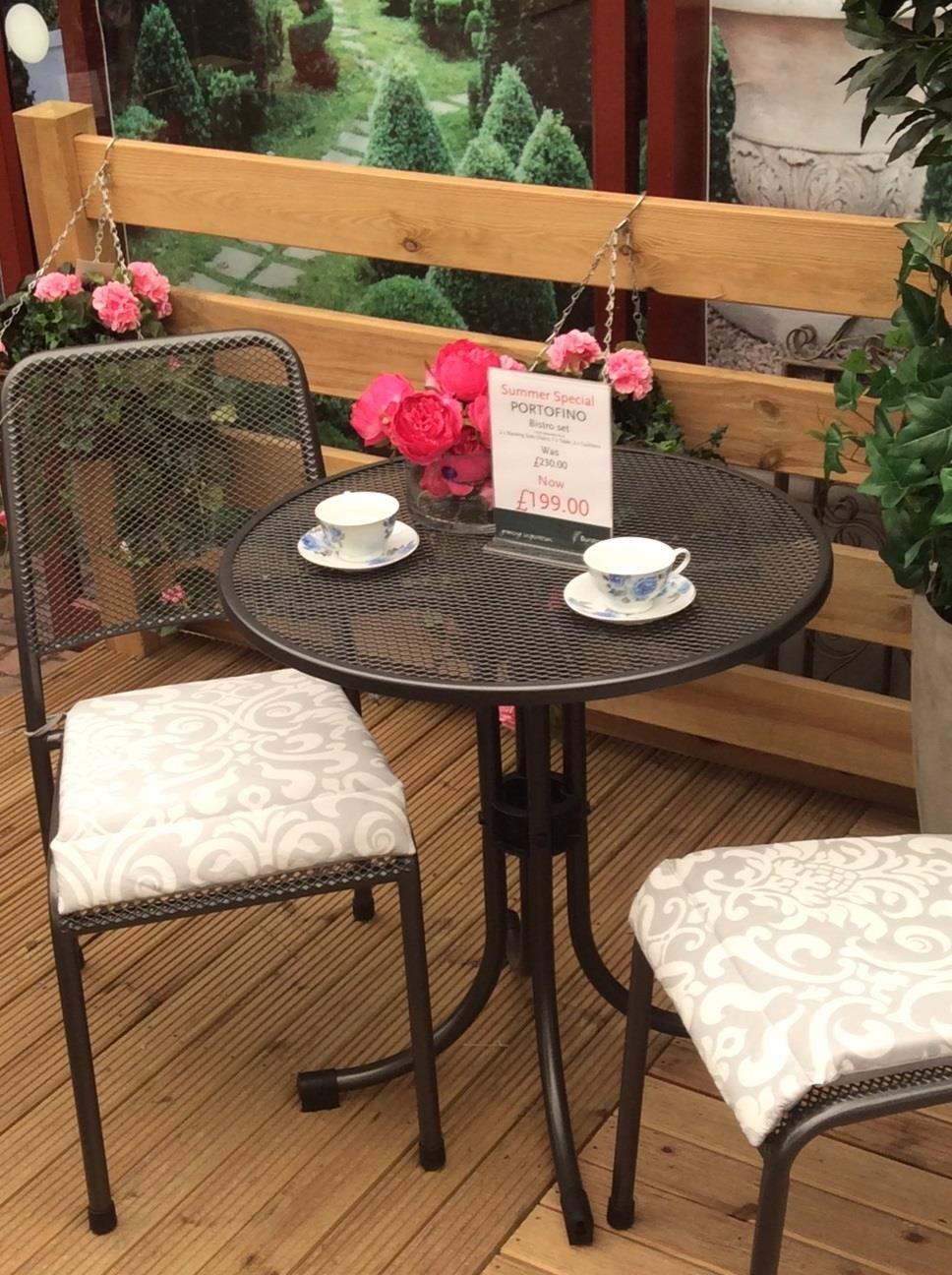 Smaller Portofino - Outdoor table and chairs - BBQ Sale at Burston Garden Centre