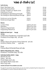 Drink and Wine List - thumbnail