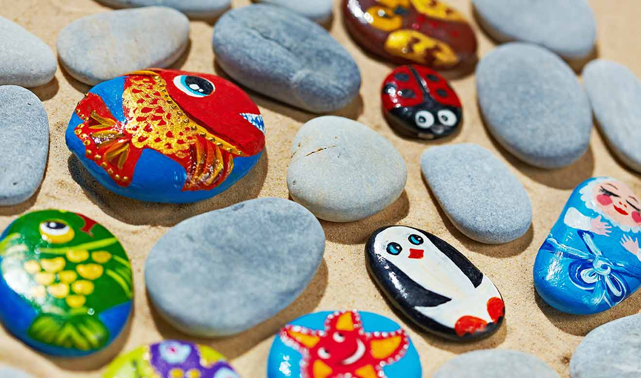 rock painting at Burston Garden Centre