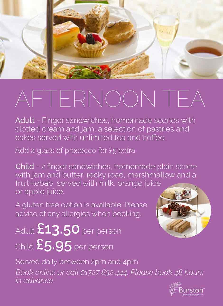Special Offers - Burston Garden Centre Restaurant - Afternoon Tea