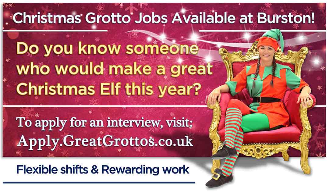 Christmas Grotto jobs available at Burston Garden Centre