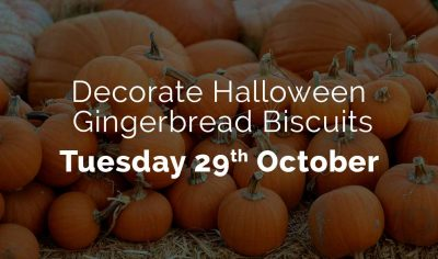 decorate halloween biscuits - 29th October
