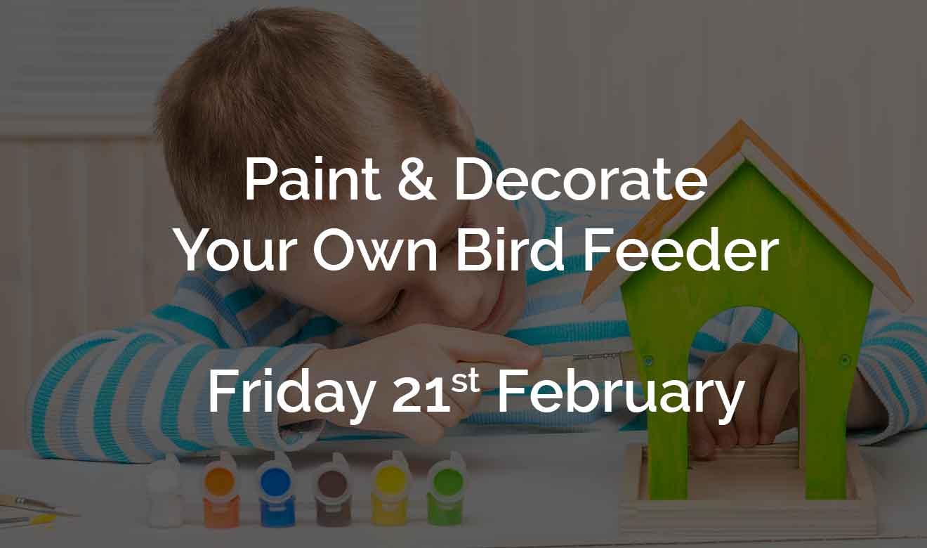 Paint a bird feeder at Burston