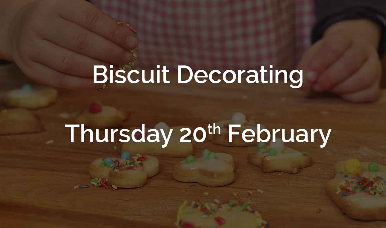 Decorate biscuits at Burston