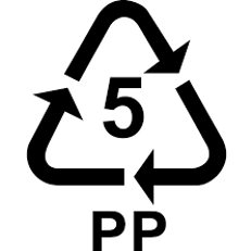 5 pp plastic symbol - recycling