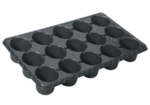 Plastic plant pot trays
