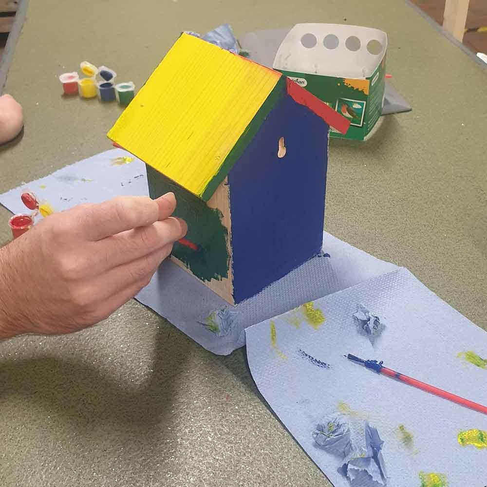 Paint a bird feeder with Burston Garden Centre