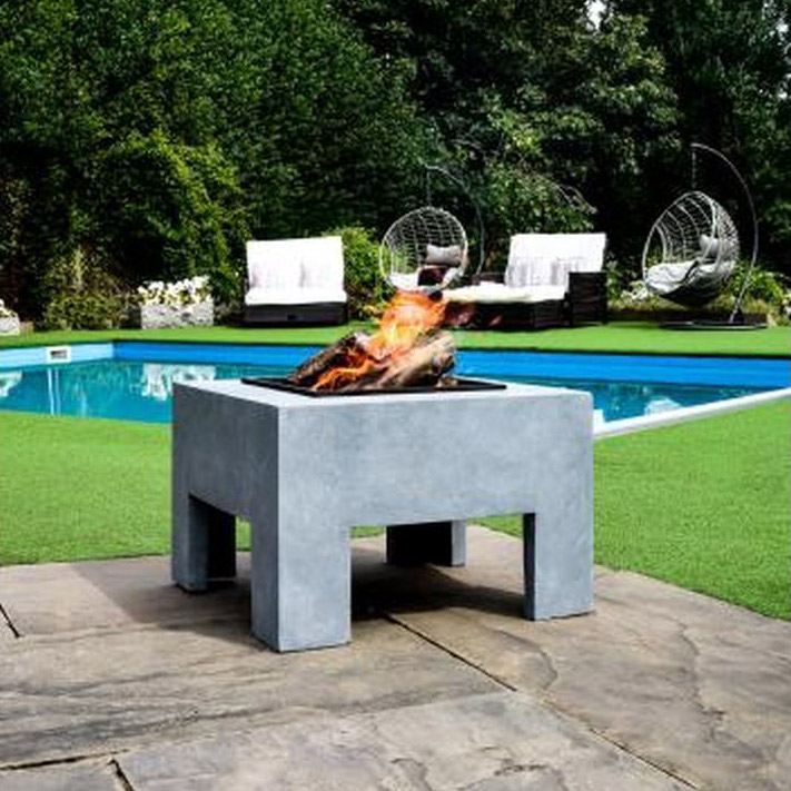 Ivyline Square Firepit Table in grey: £159.99
